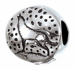 Zable Silver Wolf Bead