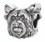 Zable Silver Yorkshire Terrier Dog Bead