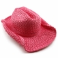 Pink Straw Cowgirl Hat
