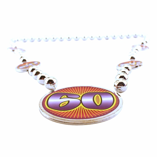 Silver 60th Birthday Beads