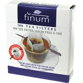 Finum Small Tea Filters 100ct with Filter Stick