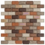Agrigento Brick Mosaic Glass Tile 8mm