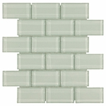 Arctic Ice Mosaic Glass Tile 8mm