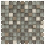 Aruba Mosaic Glass & Metal Tile 8mm