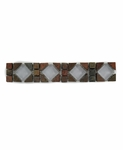 Autumn Mosaic Slate with Glass Listello Design 25