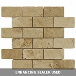 Beige Brick Mosaic Travertine Tile