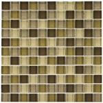 Beige Mix Mosaic Glass Tile 8mm