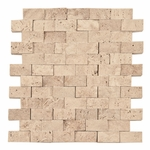 Beige Mosaic Travertine Tile