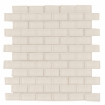 Bianco Brick Matte Glass Mosaic