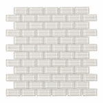 Bianco Brick Mosaic Glass Tile 8mm