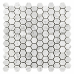 Bianco Carrara Hexagon Mosaic Marble