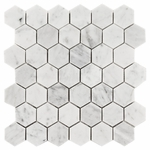 Bianco Carrara Hexagon Mosaic Marble Tile