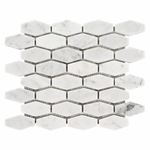Bianco Carrara Oblong Hexagon Mosaic Marble Tile