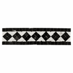 Carrara White & Black Marble Border Design #1