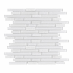 Bliss Norwegian ice Glass Quartz Linear Blend Mosaics Tile
