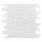 Bliss Norwegian Ice Quartz Linear Blend Glass Mosaic