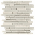 Bliss Norwegian Ice Glass Stone Linear Blend Mosaic Tile