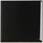 Bold Tones Absolute Black Ceramic Wall Tile