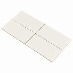 Bright White Ice Subway Ceramic Wall Tile