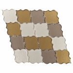 Brown & Green Clover Mosaic Glass Tile