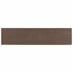 Brush Stroke Walnut Porcelain Bullnose