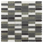 Burgos Mix Mosaic Glass & Stone Tile 8mm