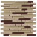 Caracas Glass & Stone Mix Tile 8mm
