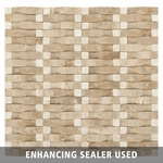 Caramel Durango Wavy Travertine Mosaic