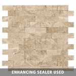 Caramel Valentino Mosaic Travertine Tile