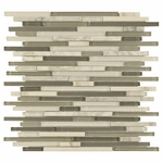 Carisma Carrara Stick Mosaic Glass Tile 10mm