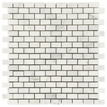 Carrara White Brick Mosaic Marble Tile