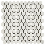 Carrara White Hexagon Mosaic Marble Tile