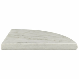 Carrara White Marble Corner Shower Shelf