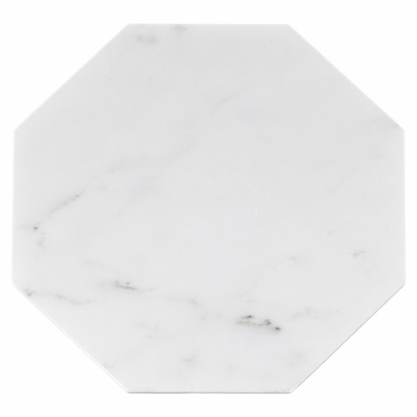 Carrara White Octagon Marble Tile