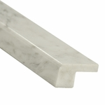Carrara White Square Marble Edge