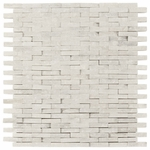 Carrara White Stacked Stone Brick Mosaic Marble Tile