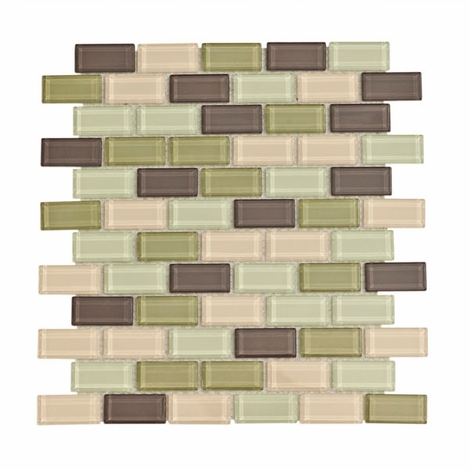 Catania Brick Mosaic Glass Tile 4mm