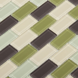 Catania Brick Glass Mosaic
