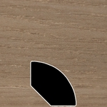Color 209 Universal Laminate Quarter Round