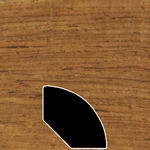Color 448 Universal Laminate Quarter Round
