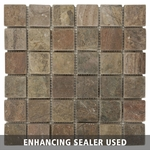 Copper Mosaic Slate Tile