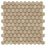 Crema Marfil Hexagon Marble Tile