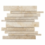 Crema Viejo Polished Stick Travertine Mosaic