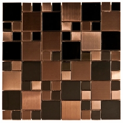 Dark Random Mosaic Metal Tile