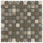 Diamond Cave Mosaic Glass & Metal Tile 8mm