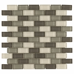 Dominica Brick Mosaic Glass Tile 6mm