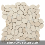 Durango Pebble Mosaic Travertine Tile