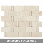 Durango Wavy Stripe Mosaic Travertine Tile