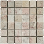 Dynasty Cream Mosaic Marble Tile