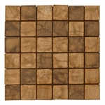 Emilia Nera Mix 1 Mosaic Decorative Travertine Tile
